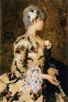 G Favretto. 18th century Venetian lady. 1887