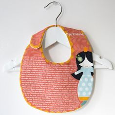 baby girl bib with Snow White tale