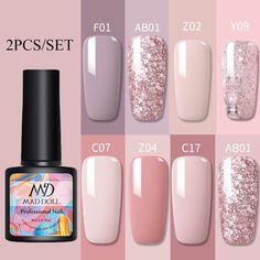 Gel Nail Polish Set, Gel Polish Colors, Nail Cuticle, Uv Gel Nails, Gel Remover, Polish Models, Rose Nails, Clean Nails, Glitter