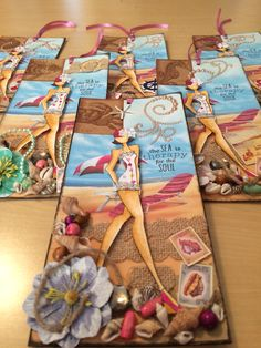 Julie Nutting Prima Doll Tag - A Day at The Beach by First of Five Designs