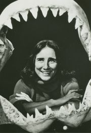 """Eugenie Clark is the """"Shark Lady."""" During her over 30-year career, she has caught and studied over 2,000 sharks! She is a Senior Research Scientist and Professor Emerita, having received three honorary doctorates and multiple awards. She has authored three books and over 160 scientific and popular articles."""