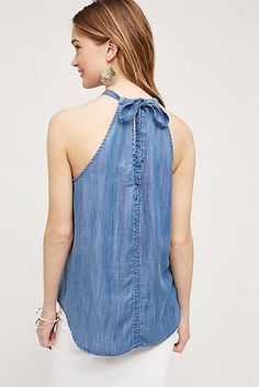Chambray Halter Top