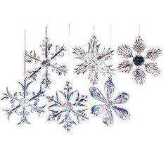 This Kurt Adler 12 piece 2 inch glass iridescent snowflake Christmas ornaments are unique designs, classic and very nice looking. You can décor your Christmas tree with this glass snowflake ornamen… Handmade Christmas Decorations, Christmas Ornaments To Make, Snowflake Ornaments, Homemade Christmas, Glass Ornaments, Christmas Fun, Hanging Ornaments, Angel Ornaments, Holiday Crafts