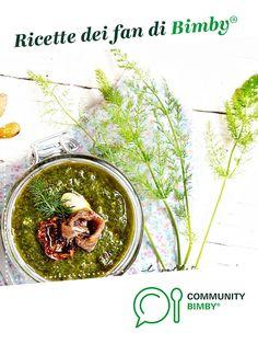 pesto di finocchietto selvatico con pomodori secchi, capperi e alici è un ricetta creata dall'utente Ilsolleticonelcuore. Questa ricetta Bimby® potrebbe quindi non essere stata testata, la troverai nella categoria Salse, sughi, condimenti, creme spalmabili e confetture su www.ricettario-bimby.it, la Community Bimby®. Pesto, Vegetables, Food, Veggie Food, Vegetable Recipes, Meals, Veggies