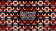 Glowing Red Box Video Animation | 12 clips | Full HD 1920×1080 | Looped | H.264 | Can use for VJ, club, music perfomance, party, concert, presentation | #3d #box #dance #disco #geometric #glossy #glow #loop #music #pattern #rave #red #sequence #vj #wall