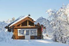 Tømmerhytte i Hedalen i tradisjonell stil.