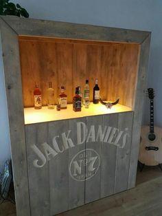 Homemade Jack Daniels mini bar | My homemade Jack Daniel\'s mini bar ...