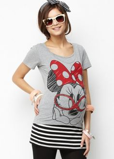 Disney Series Minnie Mouse Maternity & Breastfeeding T shirt - Mamaway.com