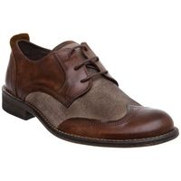 Bertie Brooklyn Distressed Brogue Shoes, Tan