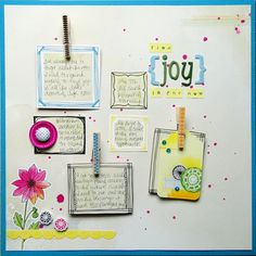 """Find Joy in the Now"" scrapbook layout by Melissa Elsner for Scrapbooking from the Inside Out, as seen on the Creating Keepsakes editors blog. #scrapbook #scrapbooking #creatingkeepsakes"