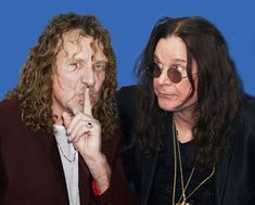 Robert Plant (Led Zeppelin) and Ozzy Osbourne (Black Sabbath) Arte Led Zeppelin, Beatles, Gus G, El Rock And Roll, Robert Plant Led Zeppelin, Black Label Society, British Rock, Ozzy Osbourne, Black Sabbath
