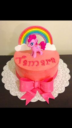 My little pony, Pinkie Pie cake @ https://www.facebook.com/pages/Lovin-From-The-Oven-by-Melinda/1400685980172802
