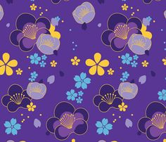Idolized Ninja Purple fabric by catchans on Spoonflower - custom fabric