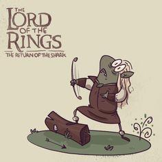 #legolas #lord #of #the #rings #the #return #of #the #king #elf #elfo #nerd #cartoon