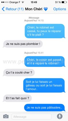 Top 30 des textos les plus délirants du moment (page Happy Birthday Quotes For Her, Birthday Message For Him, Happy Birthday Funny, Birthday Messages, Messages For Him, Funny Text Messages, Funny Sms, Funny Jokes, Trendy Baby