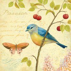 Garden Passion IV Art Print by Daphne Brissonnet at Art.com