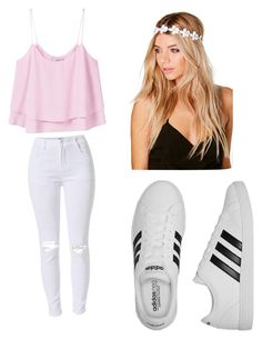 School oufit by mikayla714 on Polyvore featuring polyvore, fashion, style, MANGO, adidas, Boohoo and clothing