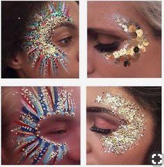 Festival glitter glitter make up, glitter party, glitter bomb, glit Glitter Carnaval, Make Carnaval, Festival Makeup Glitter, Glitter Party, Festival Glitter Ideas, Glitter Bomb, Music Festival Makeup, Music Festivals, Festival Hair
