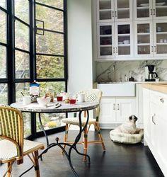 Katie Lee Joel's West Village Kitchen designed by Nate Berkus & featured in home design interior design Deco Design, Küchen Design, Layout Design, Design Ideas, Happy Design, Light Design, Design Room, Katie Lee, Nate Berkus