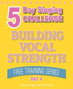 Build vocal strength with this free 5 Day Singing Challenge. Comes with free downloadable backing tracks! http://singerssecret.com/singing-challenge-build-vocal-strength/