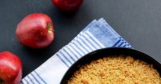 Apple Crumble Pie, Recipies, Food And Drink, Peach, Fruit, Recipes, Peaches, Apple Crumb Pie
