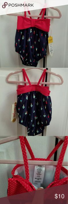 Ice cream bathing suit NWT red and blue ice cream bathing suit. cat and jack Swim One Piece