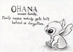 Stitch as a symbol of OHANA