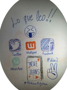 #reto #15dias15fotos #dia2 #LoQueLeo #Twitter #Wattpad #Facebook #WhatsApp #BlueJeans #Draw #Dibujo
