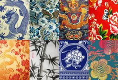 4 Eastern Art for Pattern Inspiration Chinese Celebrations, Textiles Sketchbook, Chinese Patterns, Oriental Pattern, China Art, Textures Patterns, Art Patterns, Chinese Painting, Ink Painting