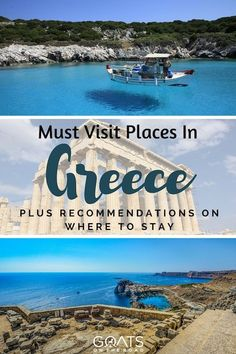 The greek islands are some of the most beautiful places in Europe. Check out these must visit places in Greece & plan your ultimate greek travel itinerary with tips on where to stay & what to do Places In Greece, Places In Europe, Places To Travel, Travel Destinations, The Road, Best Swimming, Greece Travel, Greece Trip, Travel Advice