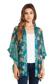 Kimono Floral Print Long Cardigans Button-free at Amazon Women's ...