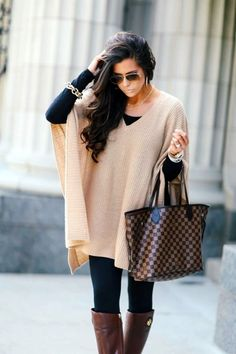 Cute outfits ideas with leggings suitable for going out on fall 39
