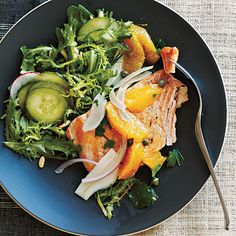 Cooking Light - Arctic Char with Orange-Caper Relish with Frisée and Arugula Salad