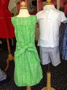 What to Wear to Derby & Steeplechase! Pink Julie Dress: $78. Boys Shorts: $42 Boys Polo: $42.  At J.McLaughlin.