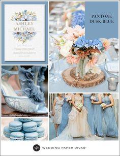 Dusk Blue Wedding Color Ideas