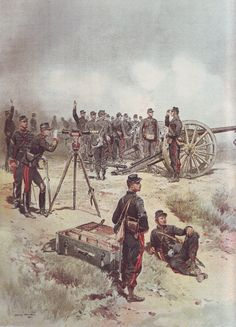 French Army 1900 Field Artillery by Édouard Detaille