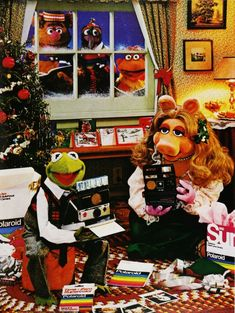 Kermit the Frog and Miss Piggy for Polaroid Cameras - 1980s
