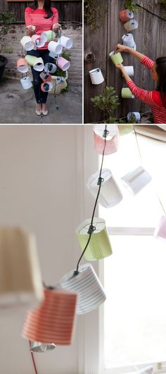 Party Lantern Garland DIY (+ Free Printable!) | Oh Happy Day!