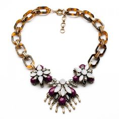 Glamourous Women's Secondary Color Flower Shape Necklace #CLICK! #clothing, #shoes, #jewelry, #women, #men, #hats