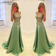 ZZ0425 Alluring Appliques Tank Evening Dress 2016 Glamorous Sleeveless A-Line Satin Evening Gown vestidos de noche
