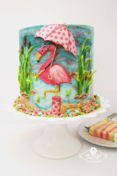 Flamingo Shower Cake