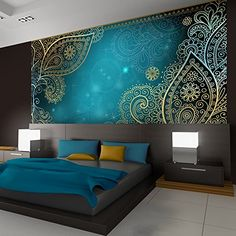 50 Best Bedroom Interior Design Ideas With Luxury Touch is part of Luxury bedroom design - A number of interior designers have had successes from previous designs that capture the plain white room into something that […] Luxury Bedroom Design, Modern Bedroom, Contemporary Bedroom, Bedroom Simple, Stylish Bedroom, Modern Wall, Ornament Tapete, Bed Design, House Design