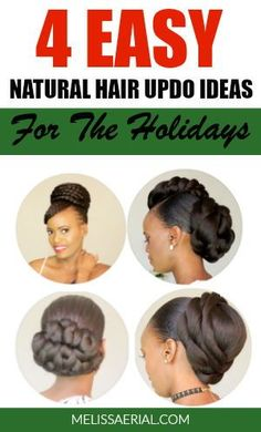 Easy to create natural hair updos for black women. Natural Hair Types, Long Natural Hair, Natural Hair Updo, Updo Styles, Long Hair Styles, Hair Remedies For Growth, Hair Growth, Black Women Hairstyles, Cool Hairstyles