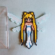 Queen Serenity - Sailor Moon mini perler beads by majestic_mermaids Pixel Art Templates, Perler Bead Templates, Diy Perler Beads, Pearler Beads, Fuse Beads, Kandi Patterns, Perler Patterns, Beading Patterns, Sailor Moon Crafts