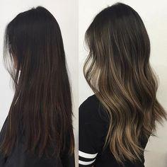 Ombre highlights - dark hair