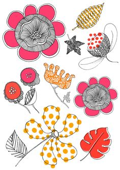 Neon colours & Big decorative blooms, fabulous flowers wall sticker collection・Digitally printed onto clear vinyl・Size 40 cm x 30 cm (Set of 2 sheets)・Designed by Sas and Yosh & Printed in the Nutmeg Wall Art studio UK・Shipping worldwide from the UK. Flower Wall Stickers, Wall Decor, Wall Art, Vinyl Designs, Artist, Flowers, Prints, Wall Hanging Decor, Artists