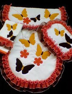 juego de baño bordado 4 pzs lencería