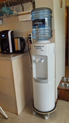 Pinterest Musings Water Cooler Disguises & DIY stool (or water dispenser stand) | Mobile Home | Pinterest | Diy ...