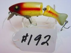 """Paw Paw  Fishing Lure - Small Jointed Chub 3-3/4"""" - Silver Scale w/Red Head & Stripes"""