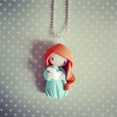Collier petite fille à la colombe - Claire